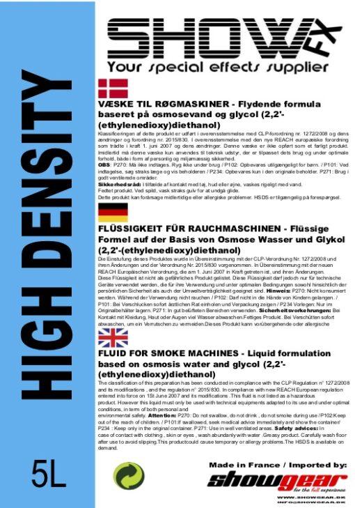 Røgvæske High Density